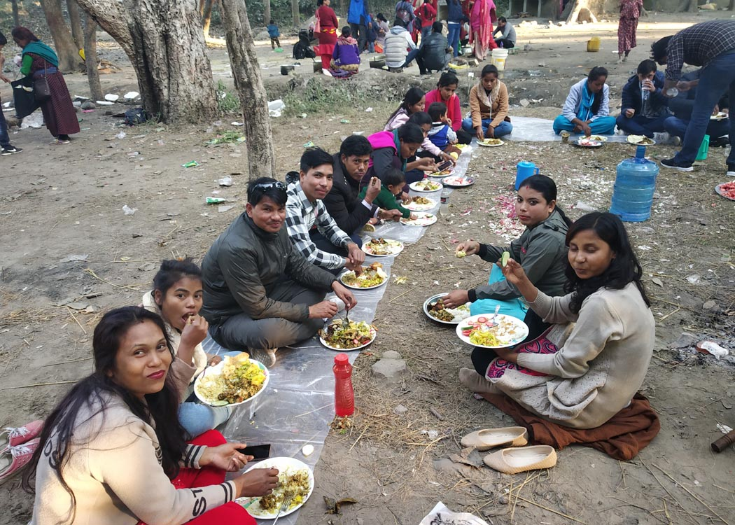 Staff picnic at Tikapur Park
